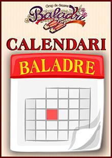Calendari d'activitats del Grup de Danses Baladre de Muro.