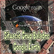 Ubicació del Grup de Danses Baladre de Muro a Google Earth.