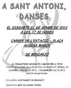 Danses de St. Antoni a Beniarjó - 20 i 21 de gener de 2012