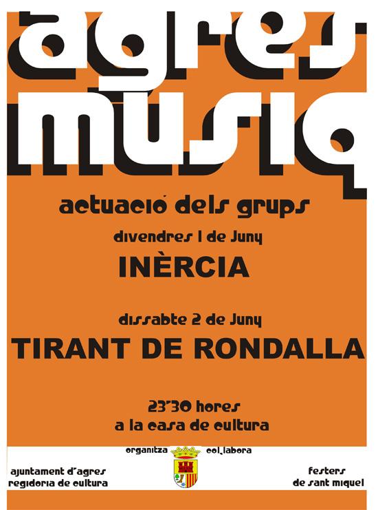 Concerts Agres Músiq per a juny