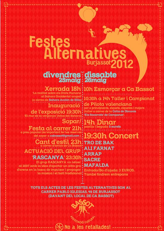 Festes Alternatives Burjassot 2012