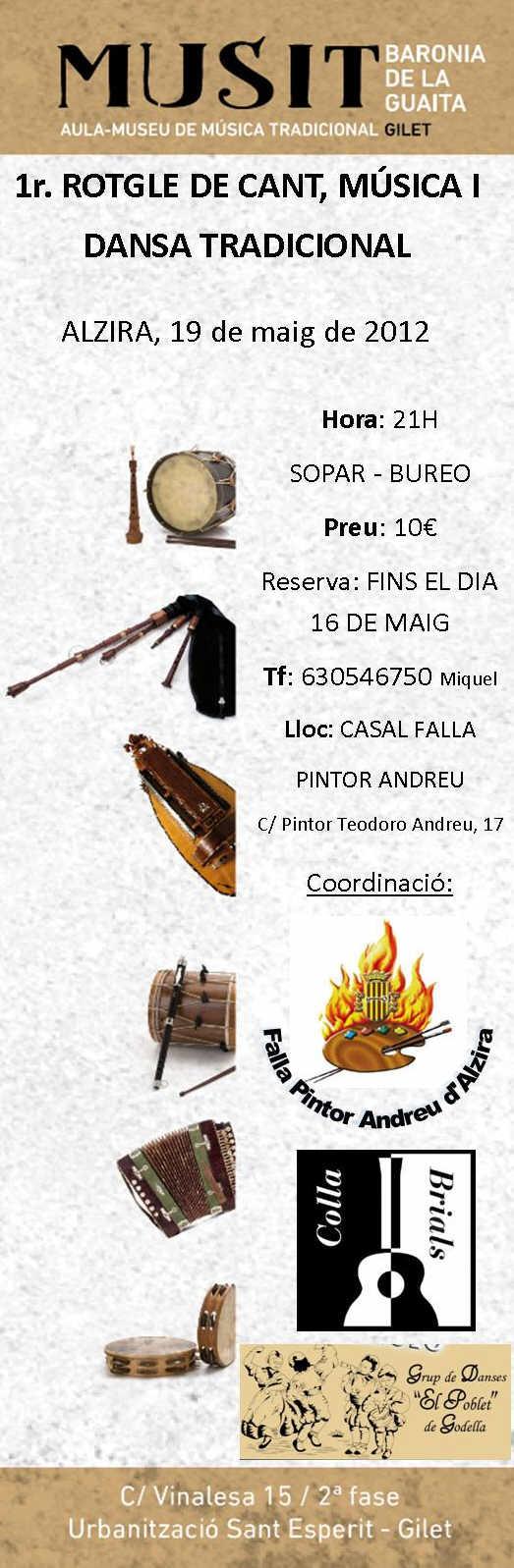 1er. Rotgle de Cant, Música i Dansa Tradicional