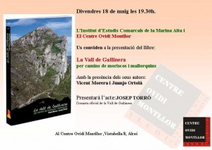 """Presentació llibre, """"La Vall de Gallinera"""""""