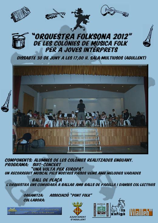 Orquestra FolkSona 2012 - Les Colònies de Música Folk per a Joves Interprets