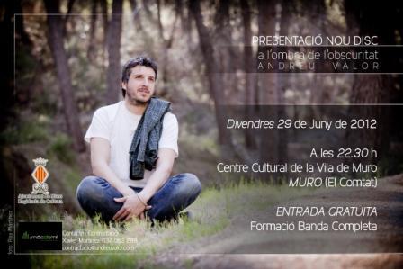 """Andreu Valor ens presenta el seu últim treball """"a l'ombra de l'obscuritat"""" al Centre Cultural de MURO"""