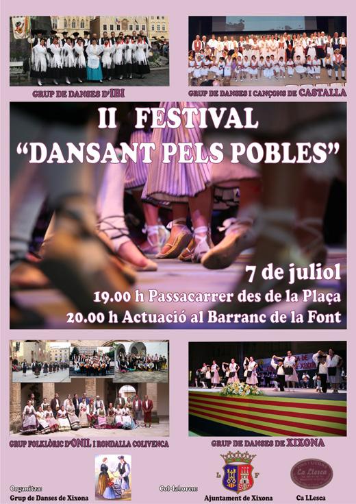 """II Festival  """"Dansant pels Pobles"""", XIXONA el 7 de juliol de 2012"""