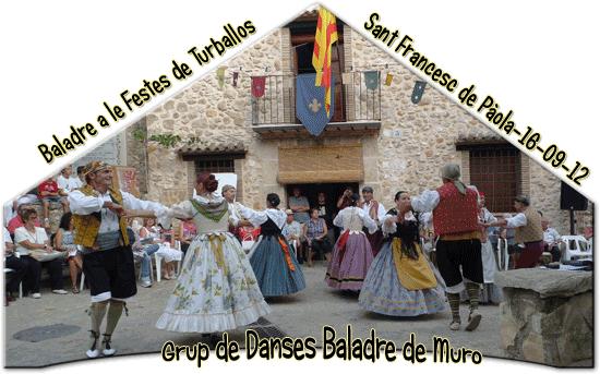 Baladre a Turballos, festes de Turballos, a Sant Francesc de Pàola - 2012
