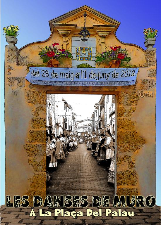 Les Danses de Muro al Carrer i Plaça del Palau 2013 del 28 de maig a l'1 de juny de 2013 - Cartell any 2013