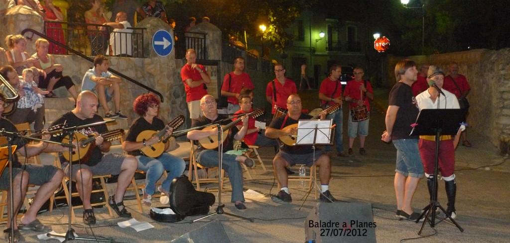 Baladre a l'Estiu Cultural i Festes de Planes 2012