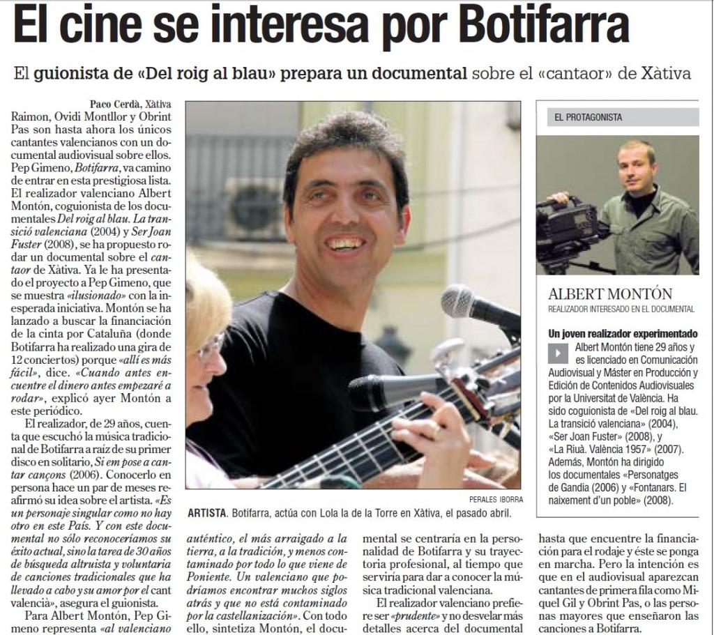 EL CINE S'INTERESSA PER PEP GIMENO BOTIFARRA