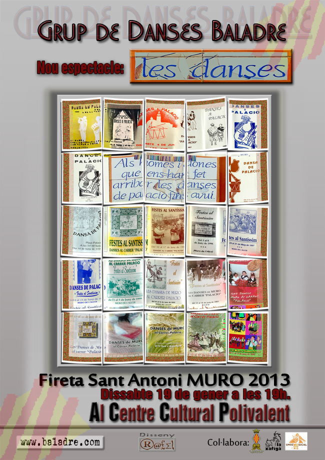 """FIRETA ST. ANTONI: El Grup Baladre de Muro, us mostrarà l'espectacle: """"LES DANSES""""."""