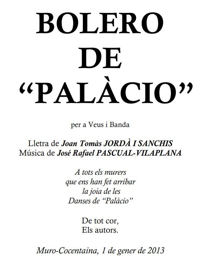 El Bolero de Palacio