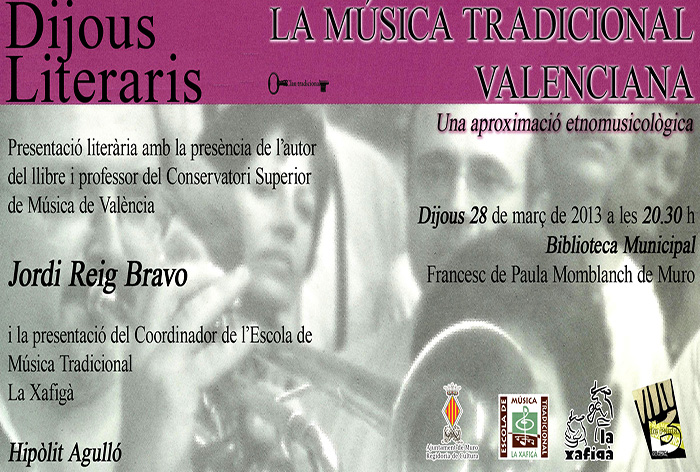 Invitacio llibre musica tradicional valenciana