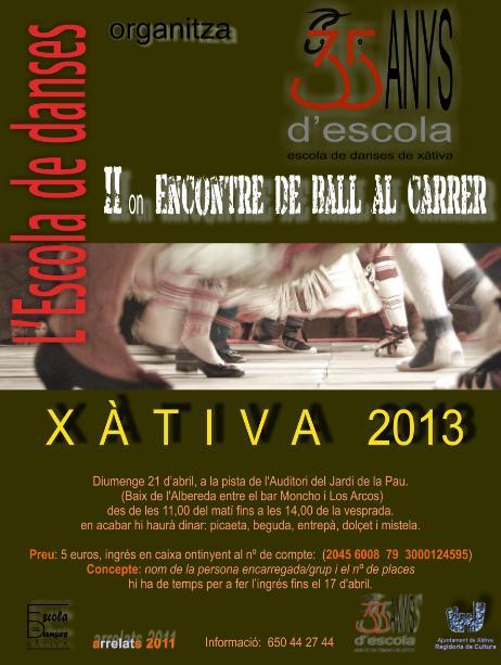 II Encontre de Ball al Carrer a Xàtiva