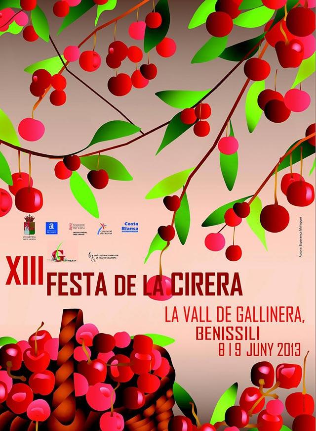 13 Festa de la Cirera els dies 8 i 9 de juny, enguany a Benissili