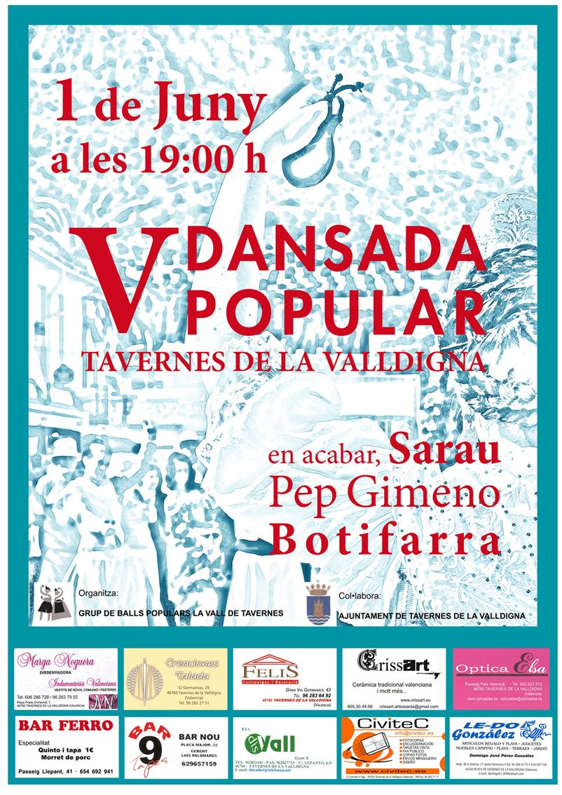 V Dansada Popular Tavernes de la Valldigna - 1 de juny de 2013