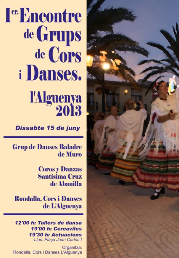 1er Encontre de Grup de Danses de l'Alguenya
