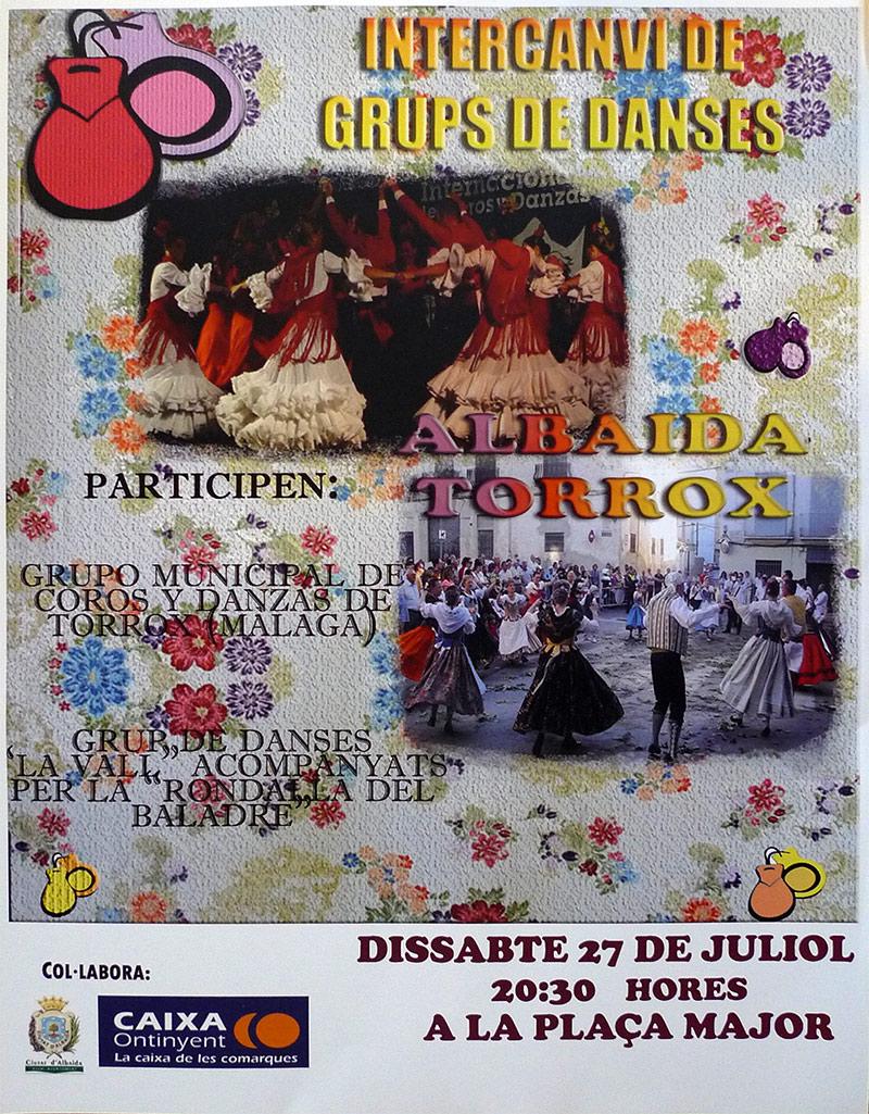 Intercanvi del Grup de Danses La Vall d'Albaida