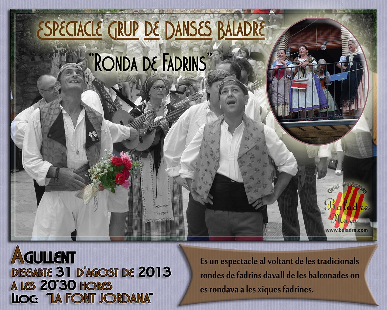 "Espectacle:""Ronda de Fadrins"" Agullent 31-08-2013"
