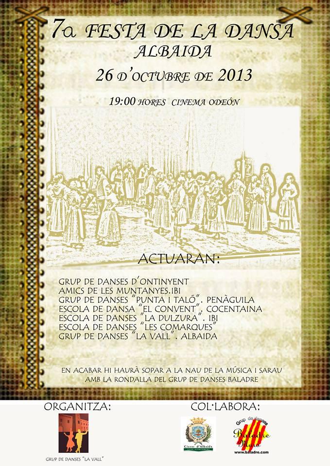 """""""7è. Dia de la Dansa"""" – Albaida 26-10-2013"""
