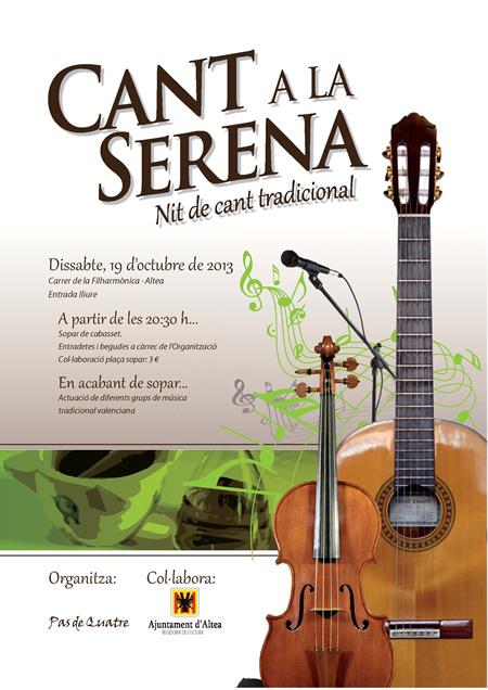 CANT A LA SERENA. Nit de música tradicional valenciana