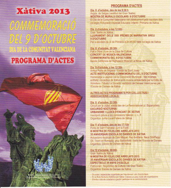11 d'Octubre el Tirant de Rondalla  a Xàtiva