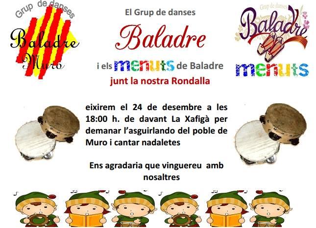 Menuts del Grup Baladre, eixen a demanar l'Asguilando pel poble de Muro