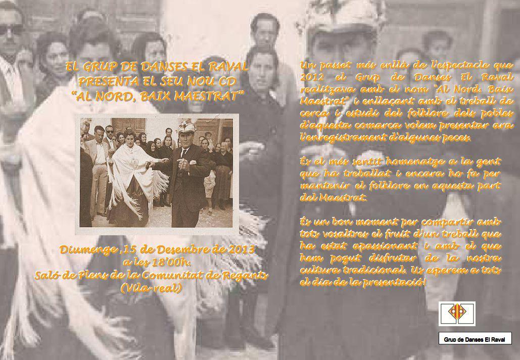 """Presentació del treball: """"Al Nord, Baix Maestrat"""""""