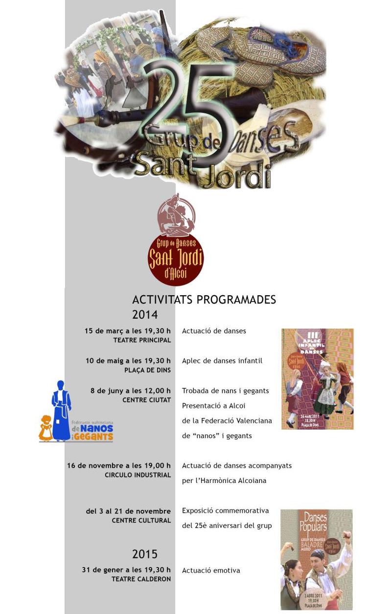 St. Jordi Alcoi 25anys15-03-2014