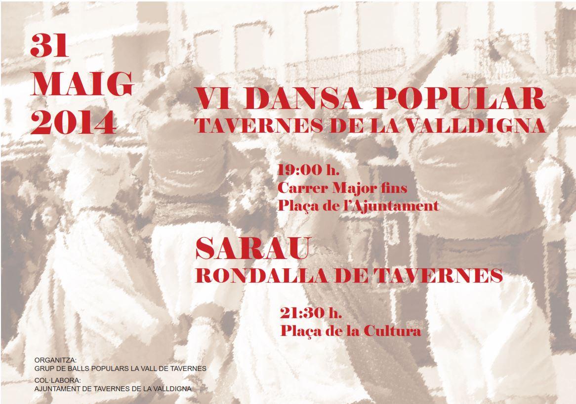 VI Dansa de Tavernes del proper dissabte 31 de Maig,